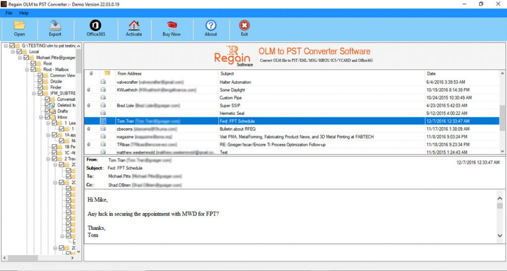 Steps to move Export MAC Outlook Emails to PST
