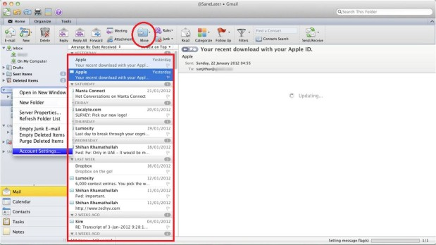 Export OLM Emails to Outlook PST file
