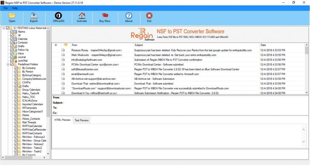 Import Lotus Notes Mailbox to Office 365 account