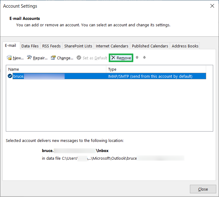 How to Remove PST file from MS Outlook?