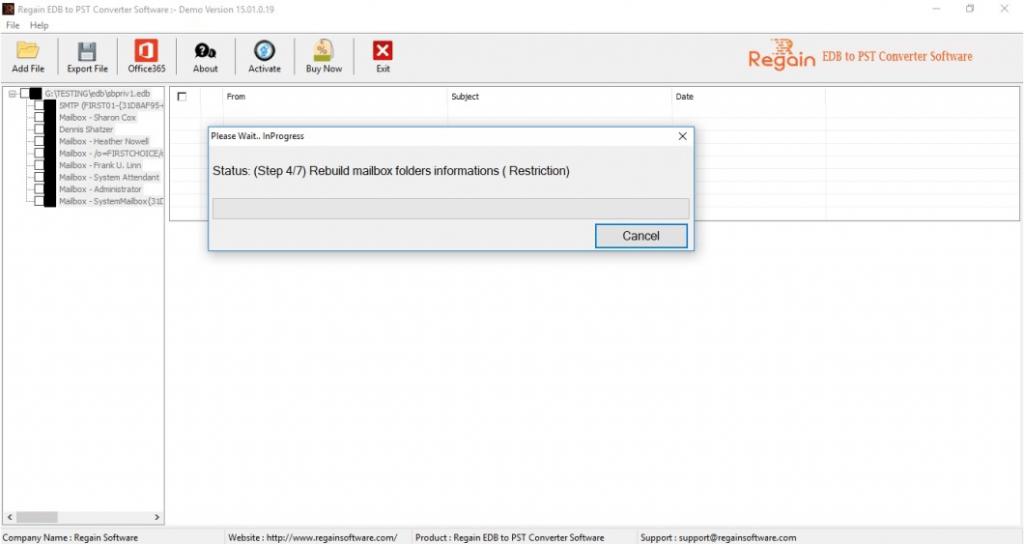 Scan EDB File for Conversion