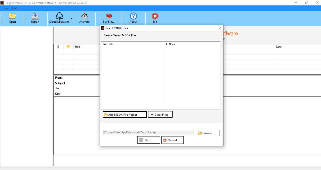 Regain Netscape to Outlook PST Converter screenshots