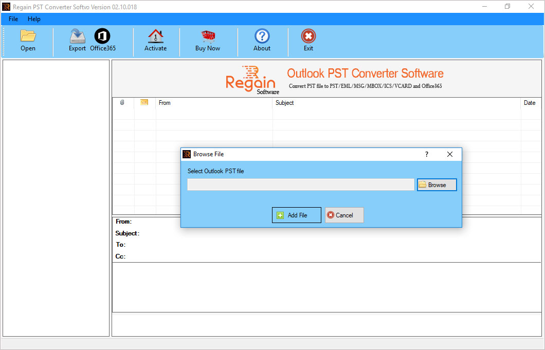 Regain Outlook PST Converter 02.10.20.18 full