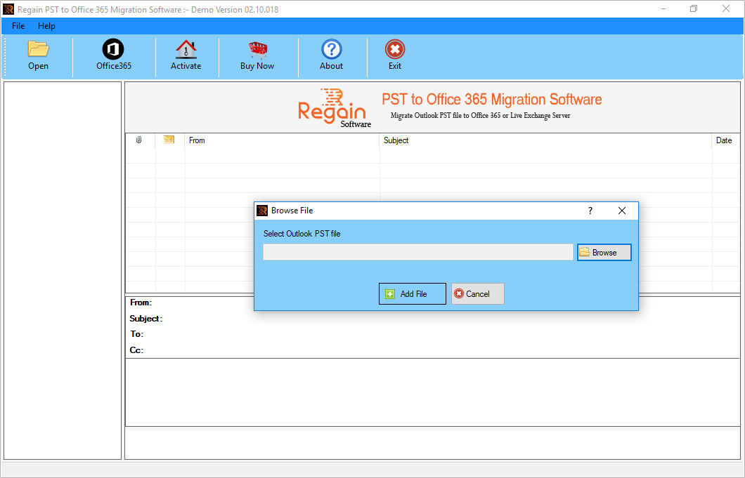 Windows 7 Regain PST to Office 365 Migration 12.08.20.18 full